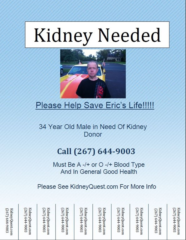 Find a kidney donor Flyers – Tear off Tabs