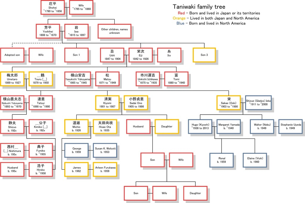 family tree with step parents and half siblings relationship