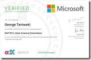 DAT101x Certificate