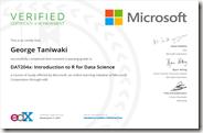 DAT204x Certificate