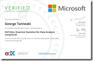 DAT222x Certificate