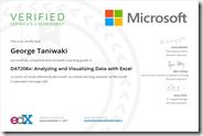 DAT206x Certificate
