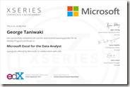 ExcelXSeries Certificate
