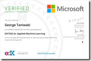 DAT203.3x Certificate