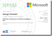 DAT263x Certificate